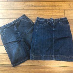 Boden denim skirts (set of two)
